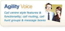 Agility Voice - no capital cost plans enabling low cost telephony services for Business.