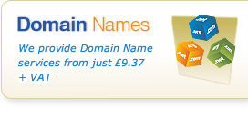 Domain Names - We provide Domain Name services from just £9.37 + VAT